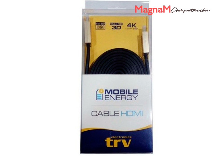 Cable HDMI 1.5mts TRV 21600P 2.0V 4K Ultra HD 3D Flat Plano